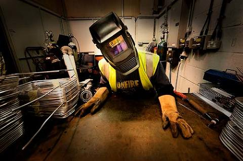 welder in workshop commercial photography for businesses